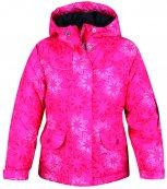 Zimní dětská bunda LOAP L4203 - AGATHA růžová květy