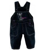 G-mini laclové kalhoty Rocky G4148 - černá s růžovým prošitím