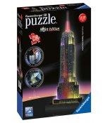 Empire State Building Puzzle Noční edice 3D 216p