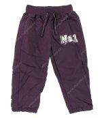 Dětské kalhoty s podšívkou PIDILIDI fialové