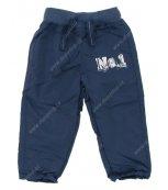 Dětské kalhoty s podšívkou PIDILIDI modré