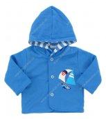 Kojenecký kabátek EWA - TROPICAL modrý
