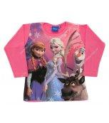 DISNEY Dívčí tričko s dlouhým rukávem ELSA růžové