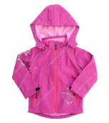 Dětská softshellová bunda KUGO S2611 růžová