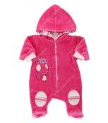 Sametový kojenecký overal EWA CIRCUS růžový