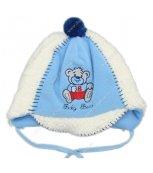 Zimní kojenecká čepice modrá