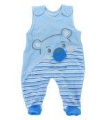 Sametové kojenecké dupačky EWA Bunny modré