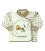 Sametový kojenecký kabátek EWA Bunny smetanový