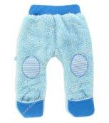 Vyteplené kojenecké kalhoty EWA Teddy Bear modré