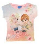 Dívčí tričko s krátkým rukávem FROZEN sv. růžové