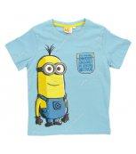 Dětské tričko s krátkým rukávem MIMONI sv.modré