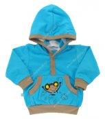 Kojenecká mikina EWA - Traveler modrá
