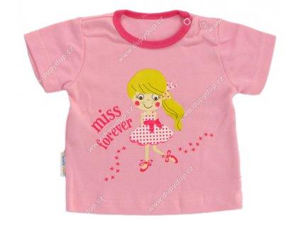 Tričko s krátkým rukávem EWA - SUMMER růžové