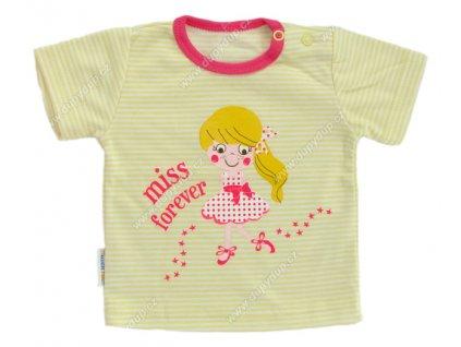Tričko s krátkým rukávem EWA - SUMMER žluté