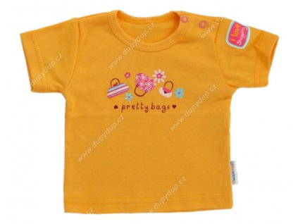 Tričko s krátkým rukávem EWA - NEON oranžové