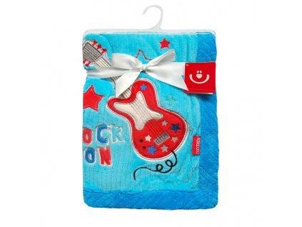 Dětská deka BOBAS KCSN - 16 modrá