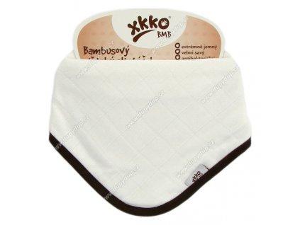 KIKKO Bambusový dětský slintáček/šátek XKKO BMB - natural