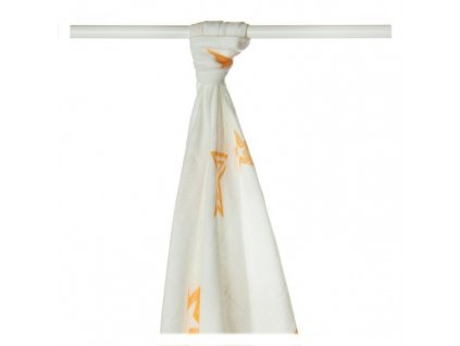 Bambusová osuška XKKO®BMB Orange Stars 90x100cm - 1ks