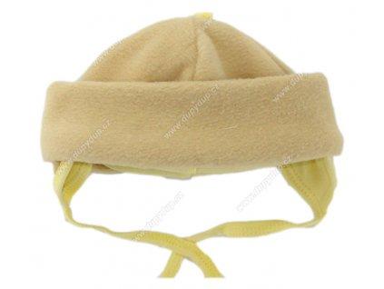 Kojenecká fleesová čepička EWA - TUPTUS žlutá