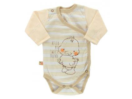 Zavinovací kojenecké body Ewa Petite béžové