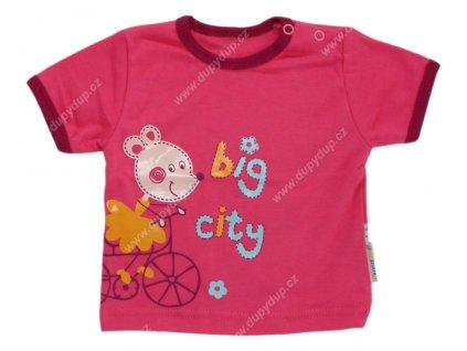 Tričko s krátkým rukávem EWA - NEON růžové