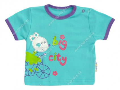 Tričko s krátkým rukávem EWA - NEON tyrkysové