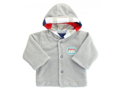 Sametový kabátek s kapucí EWA NEON - šedý