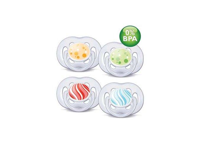 Šidítko silikonové 6-18m. bez BPA, 2 ks