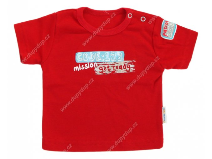 Tričko s krátkým rukávem EWA - NEON červené