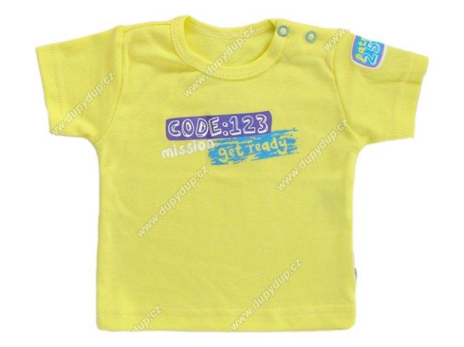 Tričko s krátkým rukávem EWA - NEON žluté