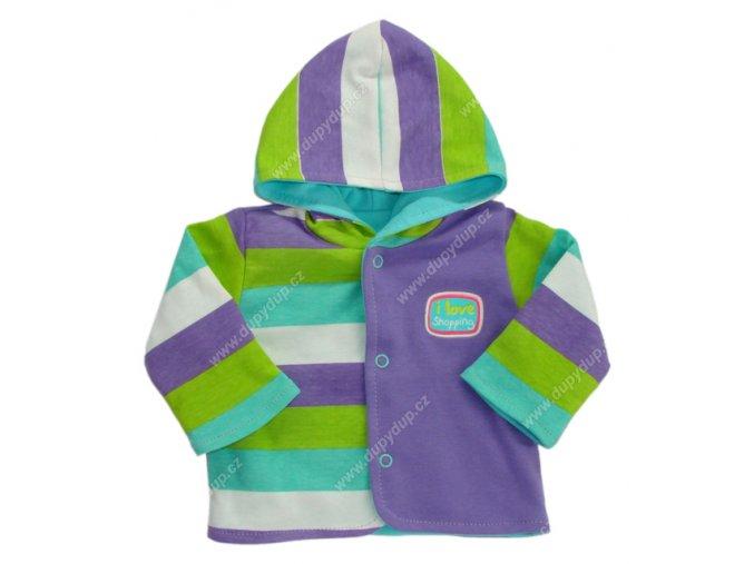 Kabátek s kapucí EWA NEON - fialové