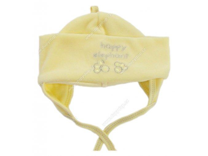 Sametová čepička EWA HAPPY žlutá