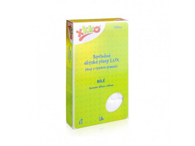 Bavlněné dětské pleny KIKKO LUX 80x80 - bílá