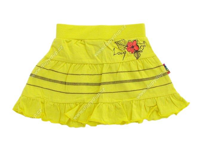 Dívčí sukně LOAP ZIMGA L3024 žlutá