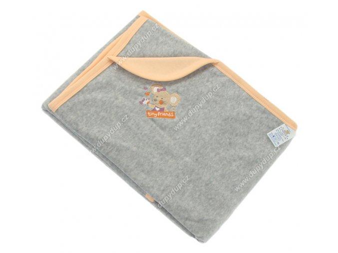 Sametová deka EWA MOUSE - oranžová
