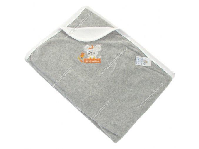 Sametová deka EWA MOUSE - bílá