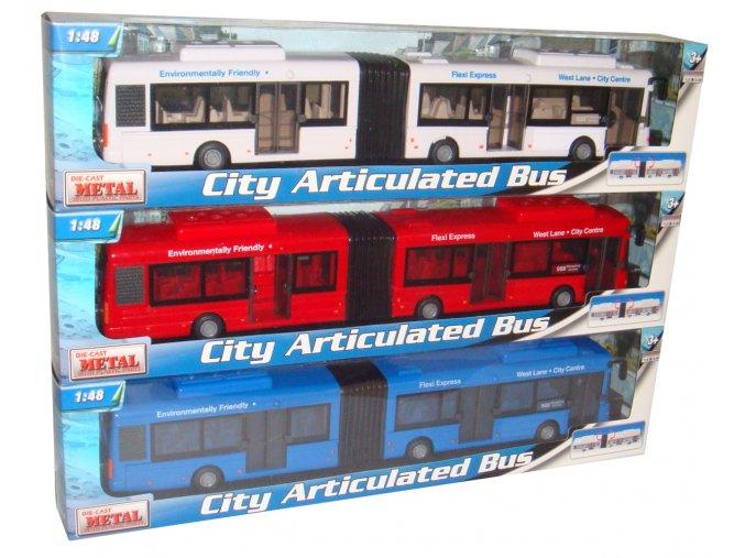 Mac toys Autobus kloubový 3ass 1:48