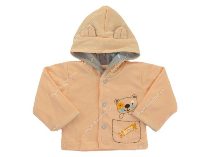 Kabátek s kapucí EWA PASTELS - oranžový