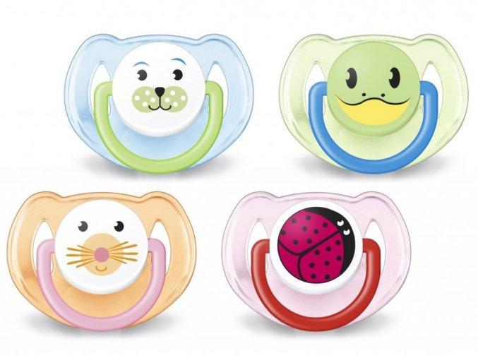 AVENT Šidítko Zvířátko Nové 6-18 měsíců bez BPA 2ks