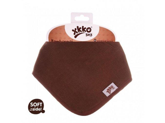 KIKKO Bambusový dětský slintáček/šátek XKKO BMB - Dark Choco