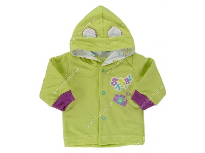 Kabátek s kapucí EWA SAFARI - zelený