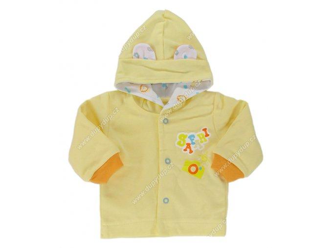 Kabátek s kapucí EWA SAFARI - žlutý