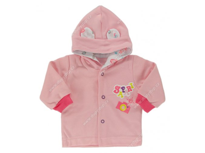 Kabátek s kapucí EWA SAFARI - růžový