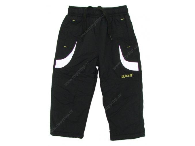 Kalhoty s fleesovou podšívkou WOLF B2471 černé