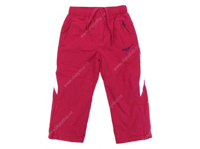 Dívčí kalhoty s fleesovou podšívkou WOLF B2473 růžové