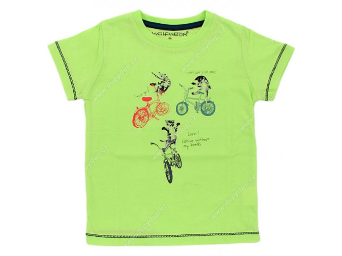 Chlapecké tričko WOLF S2501 zelené