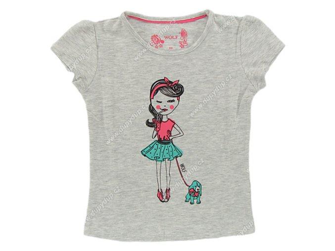 Dívčí tričko WOLF S 2521 šedé