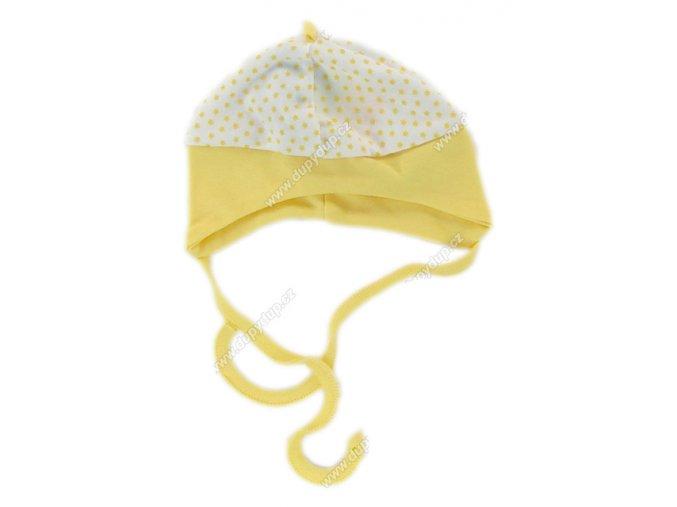 Bavlněná čepička EWA SWEET žlutá