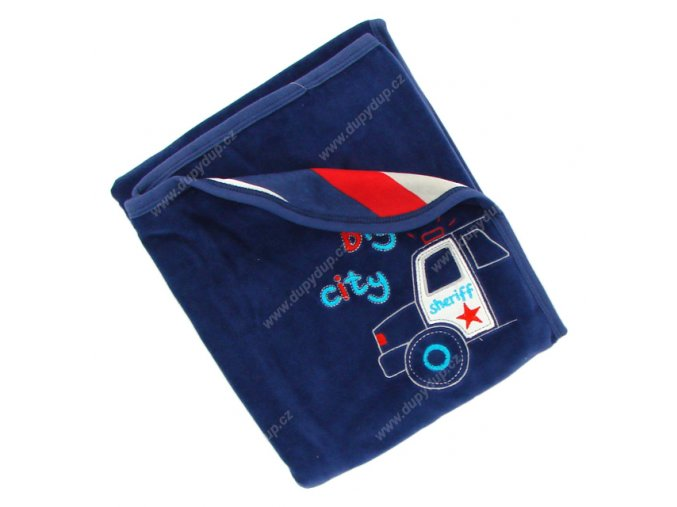 Sametová deka EWA - NEON tm.modrá