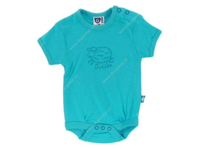 G-mini kojenecké body s krátkým rukávem G5103 tyrkysové